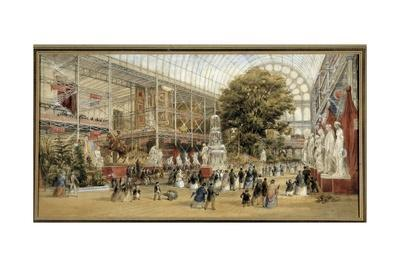 Queen Victoria Visiting the Great Exhibition of 1851 at the Crystal Palace by Thomas Abiel Prior