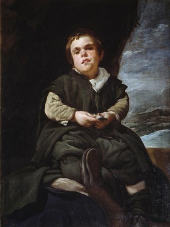 Portrait of the Jester Francisco Lezcano Called the Boy De Vallecas by Diego Velazquez
