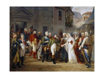 Napoleon I Receiving the Queen Louise of Prussia in Tilsit by Jean Charles Tardieu