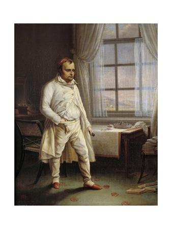 Portrait of Napoleon I on St. Helena Dictating His Memoires by Charles Auguste Steuben