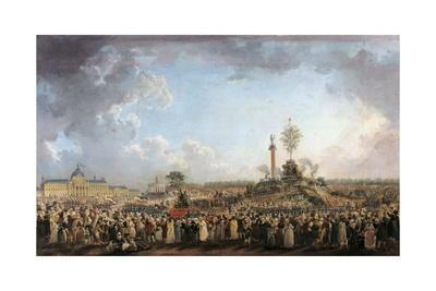 Feast of the Supreme Being at the Champ-De-Mars by Pierre Demachy