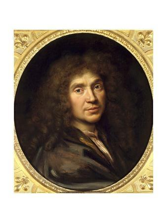 Portrait of Moliere by Pierre Mignard