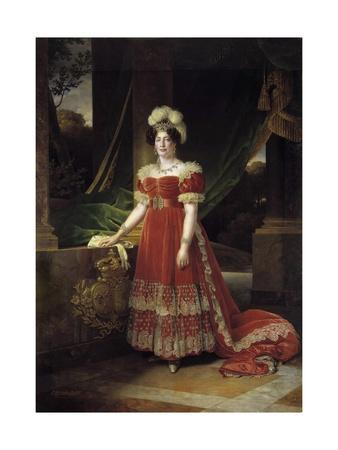 Portrait of Marie Therese Charlotte of France Called Madame Royale by Alexandre Francois Caminade