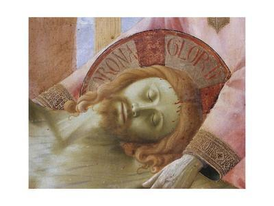 Detail of the Head of the Dead Christ by Fra Angelico