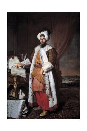 Portrait of Mehemet Called Pasha Bey of Rumelia by Joseph Aved