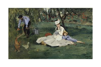 The Monet Family in the Garden by Edouard Manet