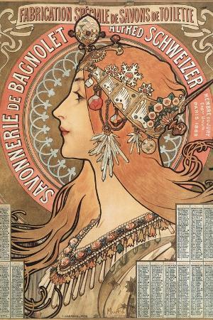 Savonnerie De Bagnolet Illustration by Alphonse Mucha