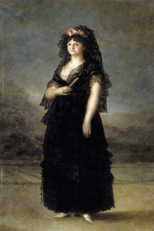 Queen Maria Luisa with Mantille by Francisco De Goya