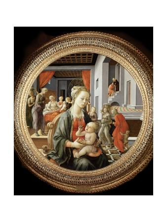 Madonna and Child with Scenes from the Life of the Virgin by Filippo Lippi