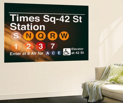 Wall Mural - Times Square Subway Sign - 42nd Street Station - Manhattan - New York