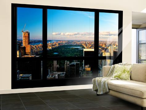 Photo Wallpaper NY Skyline,Central Park GIANT WALL DECOR PAPER POSTER FREE PASTE