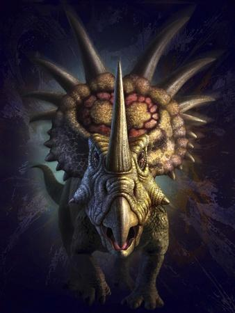 Full on View of the Horned Dinosaur, Styracosaurus