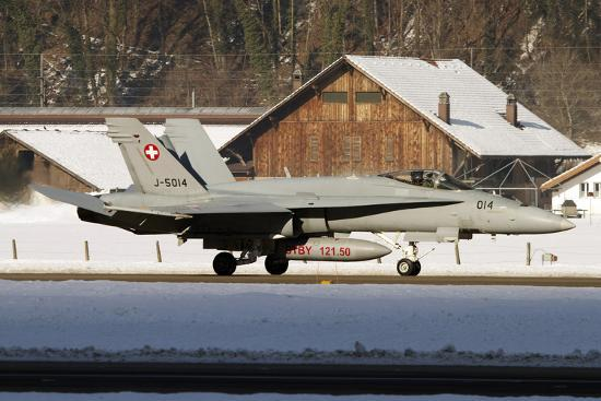 0b3fcc7721 An F-A-18 Hornet of the Swiss Air Force Photographic Print at AllPosters.com