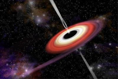 Artist's Depiction of a Black Hole and it's Accretion Disk in Interstellar Space