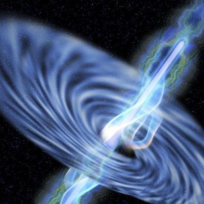A Stellar Black Hole Emits Streams of Plasma from its Event Horizon