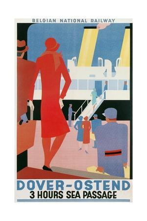 Belgian National Railway Poster, Channel Crossing