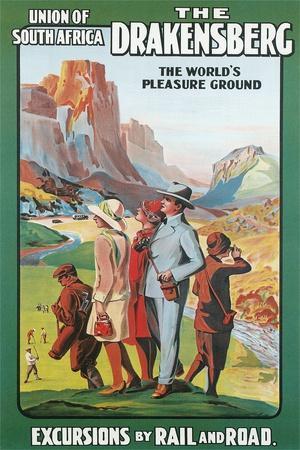 Travel Poster for the Drakenburg, South Africa