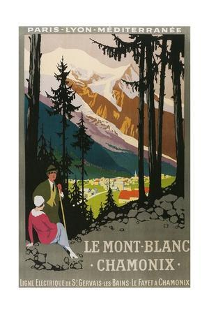 Travel Poster for Chamonix