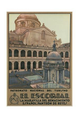 Travel Poster for the Escorial, Spain
