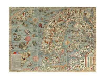 Carta Marina by Olaus Magnus