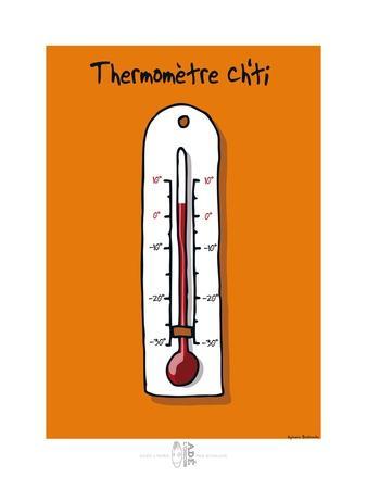 Adé l'chicon - Thermomètre Ch'ti