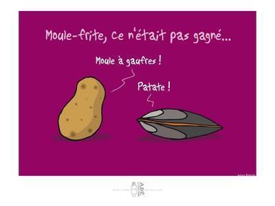 Adé l'chicon - Moule-frite, pas gagné !