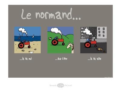 Heula. Le Normand sur son tracteur