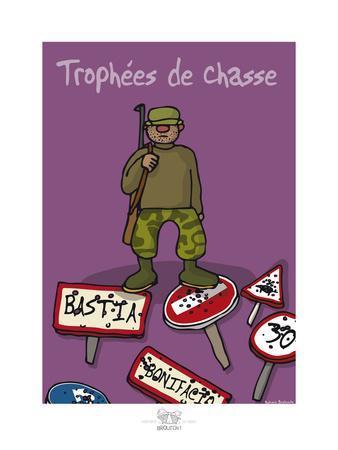 Broutch - Trophées de chasse corse