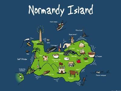 Heula. Normandy island