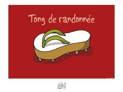 Fondus de montagne - Tong de rando