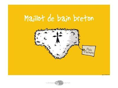 Oc'h oc'h. - Maillot de bain breton