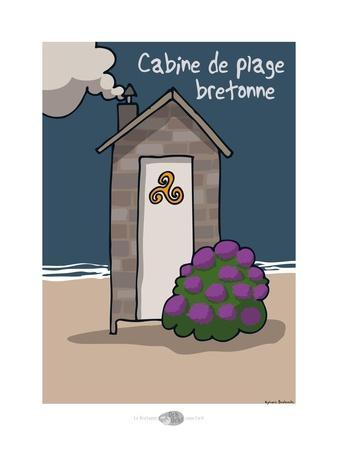 Oc'h oc'h. - Cabine de plage bretonne