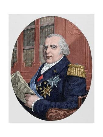 Louis XVIII (1755-1824). King of France from 1814-15 and 1815-24.