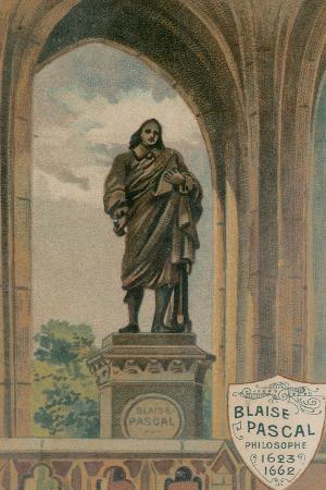 Blaise Pascal, Philosophe, 1623-1662, Erigee Sous La Tour St-Jacques