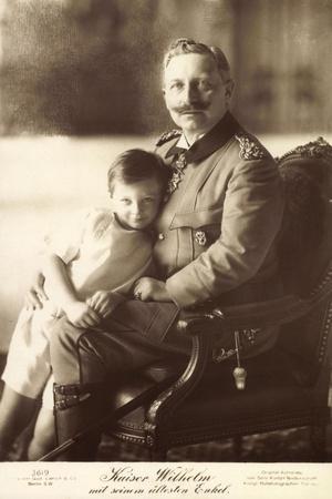 Kaiser Wilhelm II Mit Seinem Ältesten Enkel, Liersch