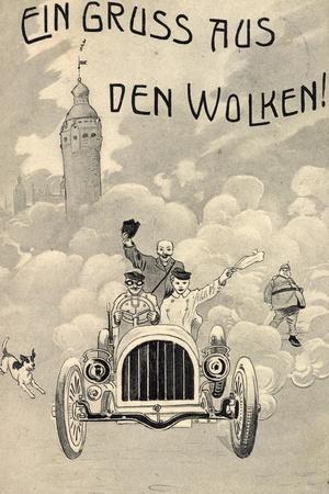 Künstler Gruß Aus Den Wolken, Automobil, Rauch