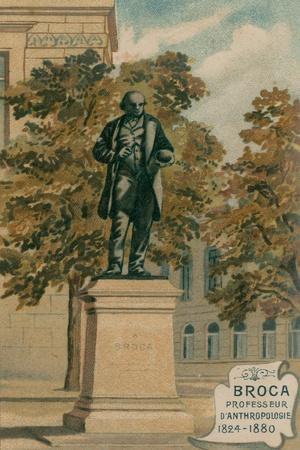 Broca, Professeur, D'Anthropologie, 1824-1880, Erigee Boulevard St-Germain