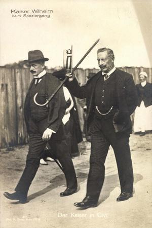 Kaiser Wilhelm II Bei Einem Spaziergang, Gehstock