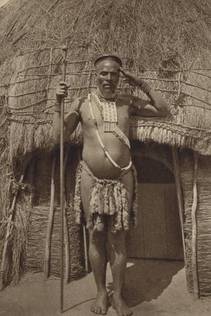 Postcard Depicting a Zulu Headman