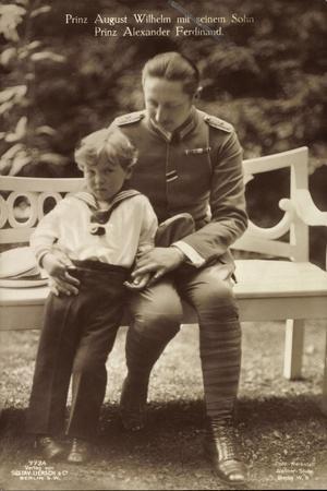 Prinz August Wilhelm V Preußen Mit Sohn,Liersch 7724