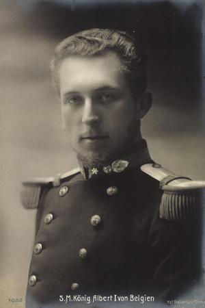 S.M. König Albert I Von Belgien, Portrait, Uniform