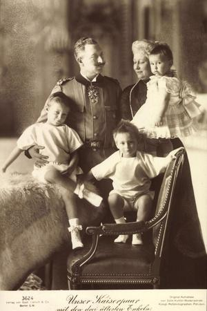Kaiser Wilhelm II, Kaiserin, Enkel, Liersch 3624