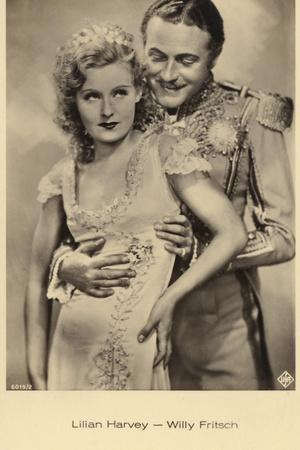 Lilian Harvey and Willy Fritsch in the Film Der Kongress Tanzt