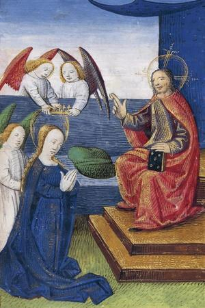 The Coronation of the Virgin Mary, Miniature from the Book of Hours Use of Poitiers