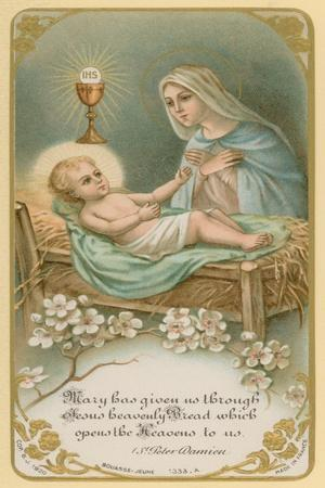 Mary Has Given Us Through Jesus Heavenly Bread Which Opens the Heavens to Us