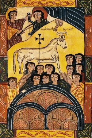 The Winning Lamb, Miniature from Review of the Apocalypse of Saint Beatus of Liebana