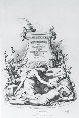 """Germany, Berlin, Frontispiece of First Edition of Music for Production of Sophocles's """"Antigone"""""""