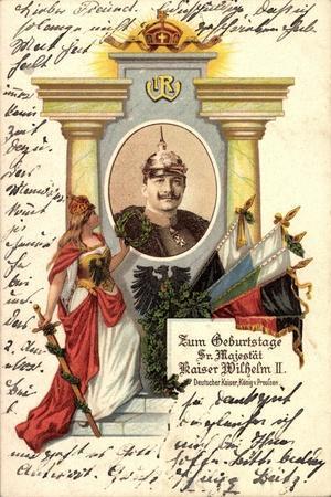 Künstler Kaiser Wilhelm II V Preußen, Zum Geburtstag