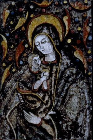 Madonna and Child, Feather Mosaic, Mexico