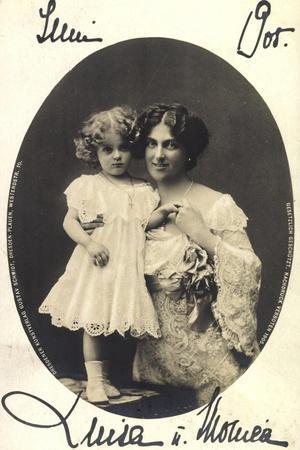 Luise Von Toskana Mit Tochter Monica, Adel Sachsen